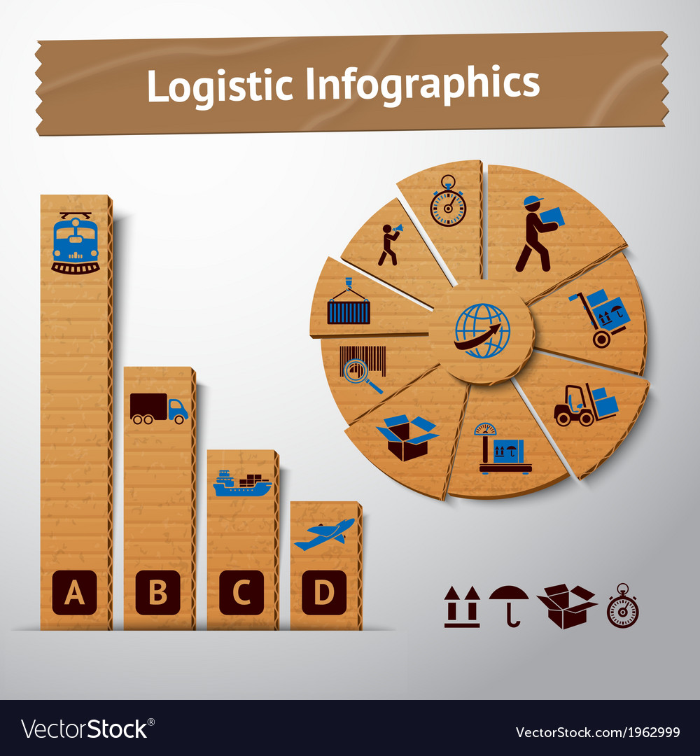 Logistic paper infographics vector | Price: 1 Credit (USD $1)