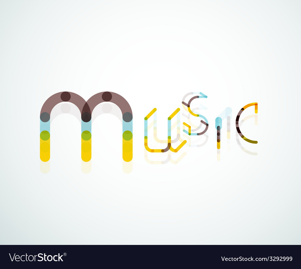 Music font word concept vector | Price: 1 Credit (USD $1)