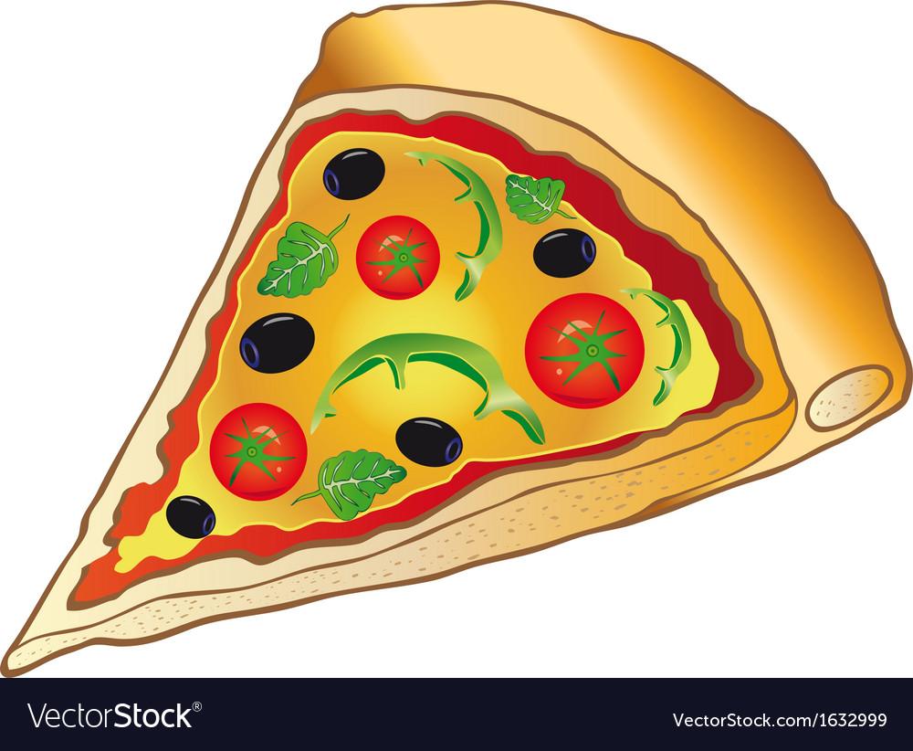 Pizza italian food vector | Price: 1 Credit (USD $1)