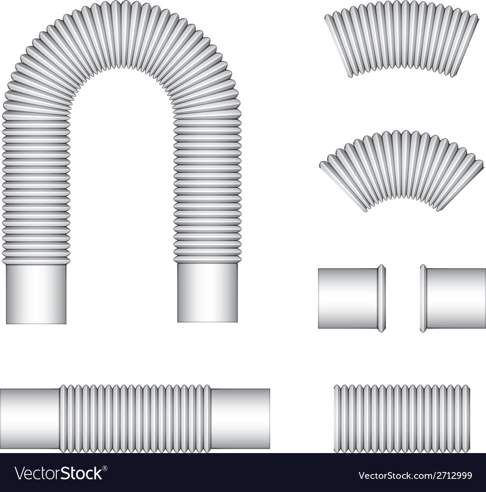 Plumbing corrugated flexible tubes vector | Price: 1 Credit (USD $1)