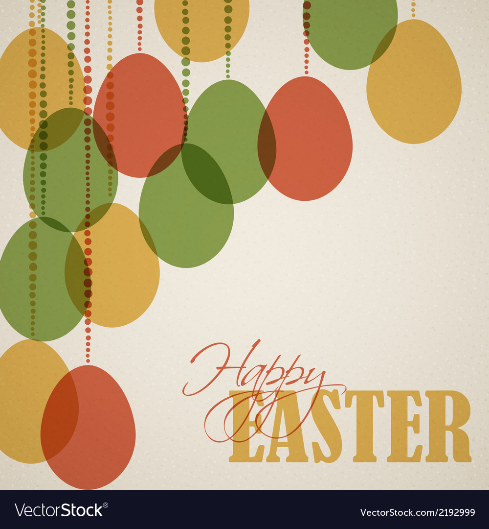 Retro paper easter egg card poster vector | Price: 1 Credit (USD $1)