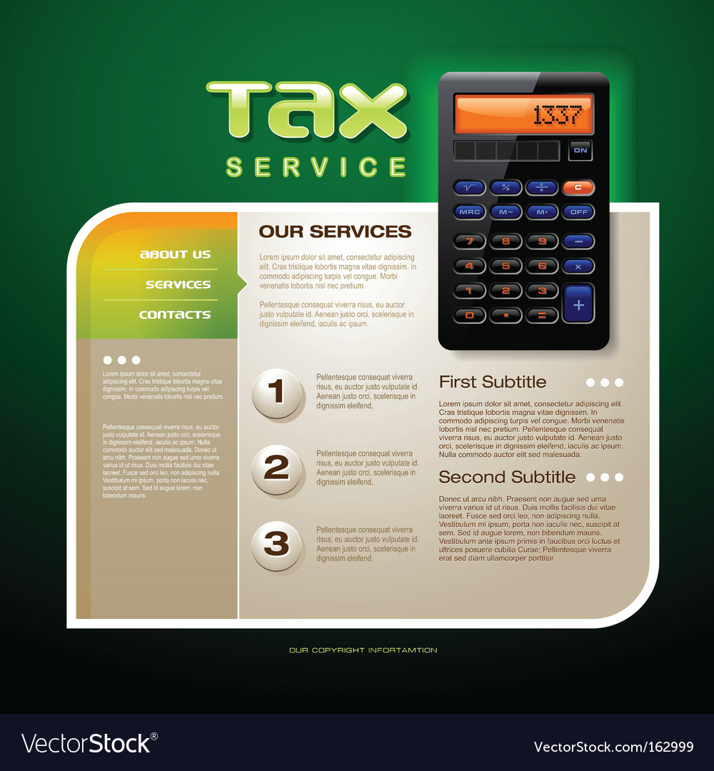 Tax service brochure vector | Price: 3 Credit (USD $3)