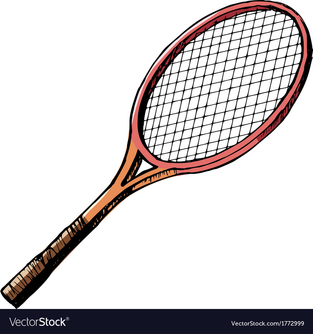 Tennis bat vector | Price: 1 Credit (USD $1)
