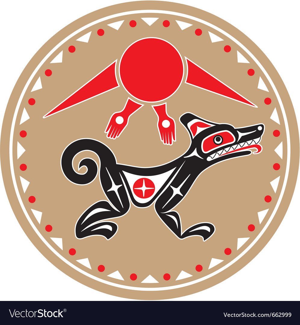 Wolf - coyote - native american style vector | Price: 1 Credit (USD $1)
