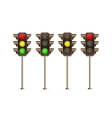 Traffic light icon set vector