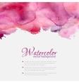 Pink watercolor blots pattern top frame vector