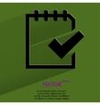 Notepad paper documents flat modern web button vector