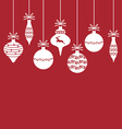 Christmas baubles back vector