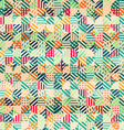 Retro fabric circles seamless pattern vector