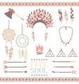 Ethnic icon set in netive style vector