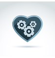 A mechanical heart love machine icon ge vector