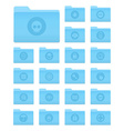 Os x folders with security icons vector