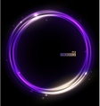 Neon glossy sphere abstract background vector