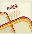 Retro music background vector