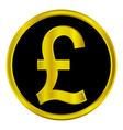 Pound sign button vector
