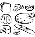 Set of baking items vector