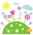 Flower bed vector