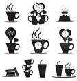 Coffee break icons set vector