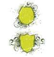 Abstract flora shields vector