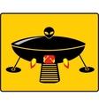 Bbq ufo grill vector