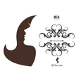 Silhouette of a girl with long hair vector