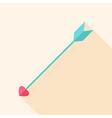 Arrow with heart vector