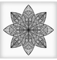 Abstract highly detailed monochrome flower vector