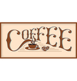 Word coffee vector