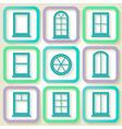Set of 9 retro icons of windows vector