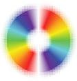 Halftone rainbow disc vector