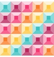 Abstract geometric pattern like a colorful quilt vector