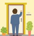 Knocking on the door vector