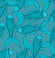 Fish cute seamless pattern vector