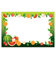 Mixed fruits border frame vector