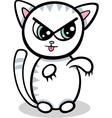 Cartoon kawaii kitten vector