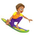 A boy surfing vector