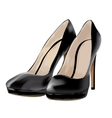 Black shoes patent leather vector