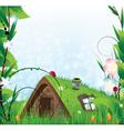 Small fairy house vector