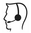 Headset symbol vector