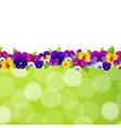 Spring flowers border vector