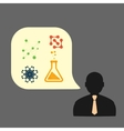 Icons man chemical experiments eps vector