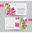 Elegant business card with bouquet of flowers vector