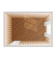 Empty room top view vector