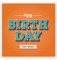 Happy birthday card font type vector