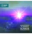 Abstract summer sunrise background vector