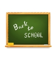 Chalkboard back to school vector