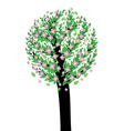 Tree with pink blossom vector