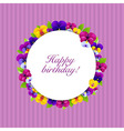 Color flowers banner vector