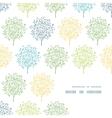 Summer trees colorful frame corner pattern vector