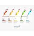Timeline infographic pencil pin vector